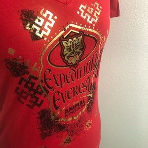 Disney Parks Expedition Everest Red TShirt Sz M